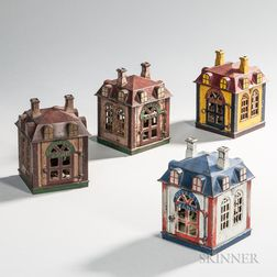 "Four Cast Iron Mechanical ""Novelty Banks,"""