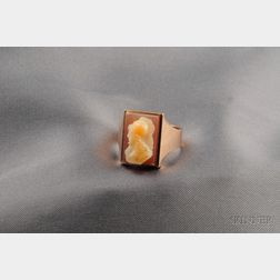 Antique Hardstone Cameo Ring