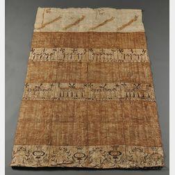 Tonga Painted Tapa Cloth