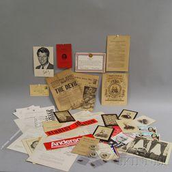 Small Collection of Political Paper Ephemera and Memorabilia