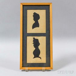 Pair of Silhouettes in a Common Frame