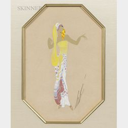 Romain De Tirtoff, called Erté (Russian, 1892-1990)      Lady in Yellow