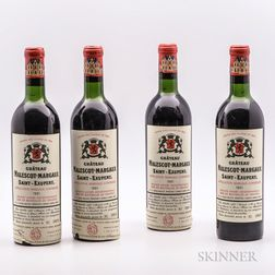 Chateau Malescot St. Exupery 1961, 4 bottles