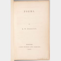 Emerson, Ralph Waldo (1803-1882) Poems  , First Edition.