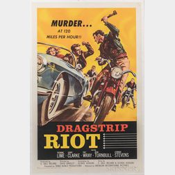 """Dragstrip Riot"" One Sheet Movie Poster"