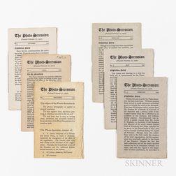 Stieglitz, Alfred (1864-1946) The Photo-Secession.   Six Issues.