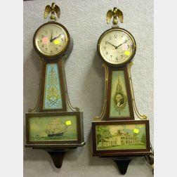 Two Seth Thomas Mahogany Banjo Wall Clocks