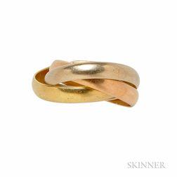 18kt Tricolor Gold Trinity Ring, Le Must de Cartier