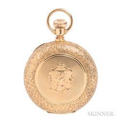 18kt Gold Hunting Case Pocket Watch, A.W. Co., Waltham