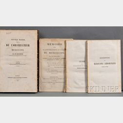 French Microscopy, Seven Titles, 19th Century: