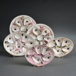 Five Porcelain Oyster Plates