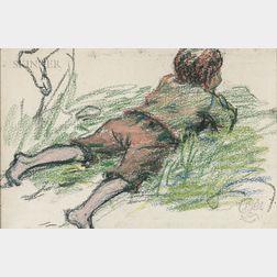 Claude Émile Schuffenecker (French, 1851-1934)      Le gosse étendu