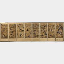 Eight-panel Horyeopdo   Folding Screen