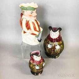 Three English Ceramic Toby Jugs
