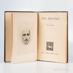 Gibran, Kahlil (1883-1931) The Prophet  , First Edition.