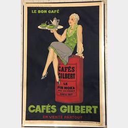 Attributed to Jaques Saingier (French, 20th Century)      Le bon café - Cafés Gilbert