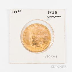 1926 $10 Indian Head Gold Eagle