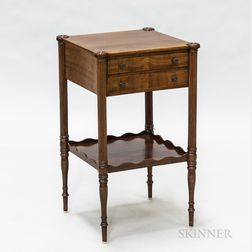 Federal-style Mahogany Two-drawer Side Table