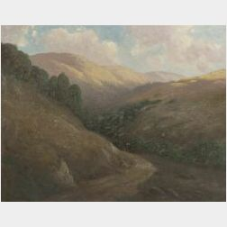 Carl Hendrik Jonnevold (American, 1856-1930)  The Road to Willow Camp, Marin Co., California