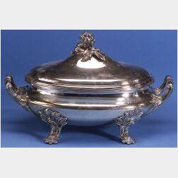George III-style Silverplated Soup Tureen