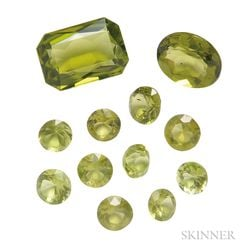 Group of Unmounted Peridots