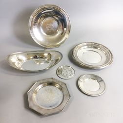 Five Sterling Silver Dishes