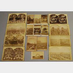 Group of Centennial Photographic Co. International Exhibition Stereoviews and   Carte-de-visites