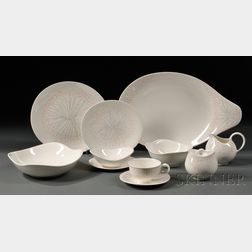 Ninety-two Pieces of Hallcraft Dinnerware in the Dawn Pattern