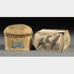 Eagle-decorated Reward of Merit Trinket Box, and a Hat-maker's Pincushion/Box