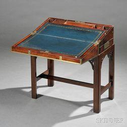 Brass-bound Mahogany Campaign Lap Desk