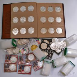 Approximately 182 Silver Eagle Dollars
