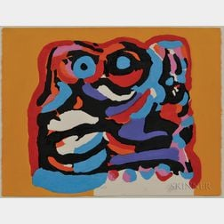 Karel Appel (Dutch, 1921-2006)      Untitled (The Yellow Elephant)