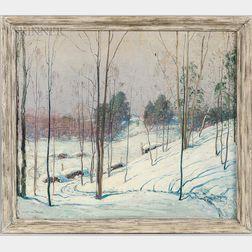 Frederick Mortimer Lamb (American, 1861-1936)      Winter Landscape