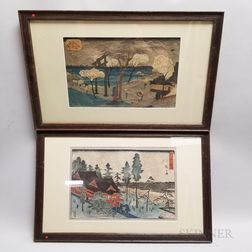 Two Hiroshige Woodblocks