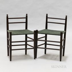 Pair of Shaker-style Low Chairs