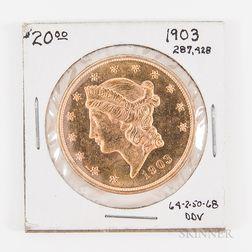 1903 $20 Liberty Head Gold Double Eagle