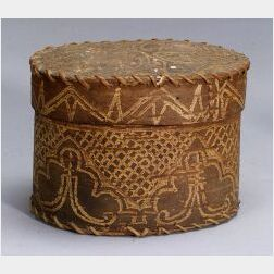 Early Woodlands Incised Birch Bark Container