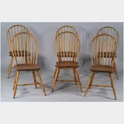 Set of Six Bow-back Windsor Side Chairs