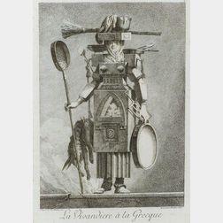 After Eurimond Alexandre Petitot (French, 1727-1801)    Lot of Four Designs A La Grecque.