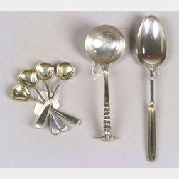 Six Georgian Silver Flatware Items
