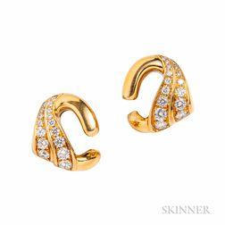 18kt Gold and Diamond Earrings, Bulgari