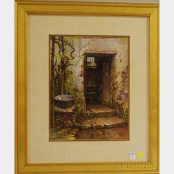 Hezekiah Anthony Dyer (American, 1872-1943)      The Kitchen Doorway