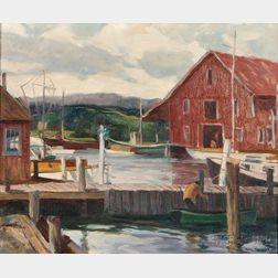 Will S. Taylor  (American, b. 1882)      Essex Docks