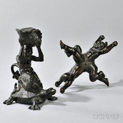 Two Renaissance-style Grand Tour Bronzes