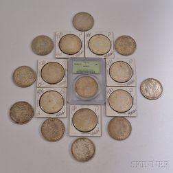 Seventeen Morgan Dollars