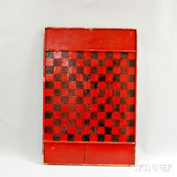 Red- and Black-painted Game Board