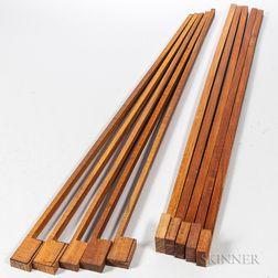 Ten Pernambuco Violin Bow Blanks