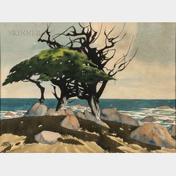 James March Phillips (American, 1913-1981)      Cypress Tree, California Coast
