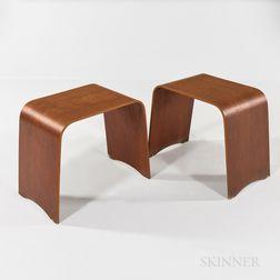 Hans Wegner for Fritz Hansen Bent Plywood Stools