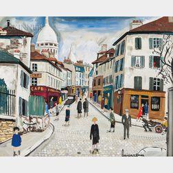 Lucien Génin (French, 1894-1958)      Montmartre, rue Norvins
